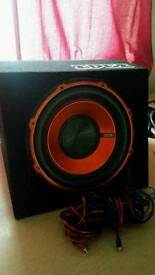 Car 900W SUBWOOFER W/BUILT IN AMP