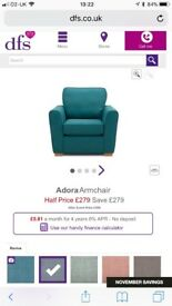 New Grey DFS Arm chair