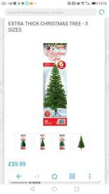 Brand new Extra thick 6 feet christmas tree
