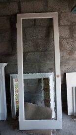 Interior glazed door