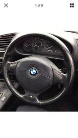 BMW E36 M-Sport Steering wheel ' heart' genuine with airbag