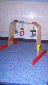 Wooden Ikea LEKA baby gym - immaculate