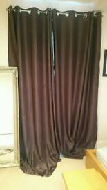 Chocolate brown supersoft thermal blackout curtain 64x108inches