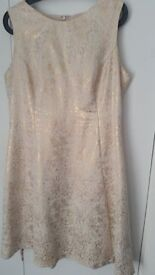 Beautiful, Gold and Cream Monsoon dress