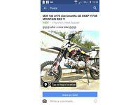 m2r 140 pit bike swap for a nice mountain bike . ( 50cc pitbike crosser MTB bike )