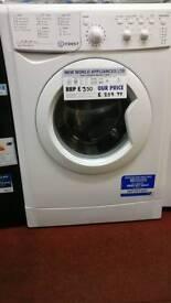 Indesit washing machine 9kg white graded