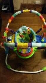 Baby jumperoo and bouncer