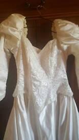 Vintage beaded wedding dress size 12