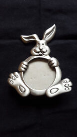 Silver rabbit photo frame, Only 80p