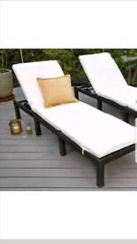 Garden sun lounger furniture