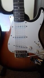 Fender squier with practice amp