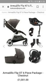 travel system. Car seat isofix buggy pram set. Never been in any accidents