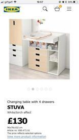 Ikea STUVA changing table/desk £50 ono