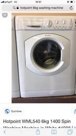 Hotpoint washing machine 5kg