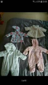 Newborn snowsuits/coats