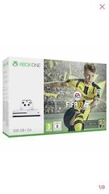 X box one s 500 GB console with Fifa 2017 bundle