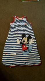 Disney Mickey Mouse baby sleeping bag 0-6 month 2.5 tog