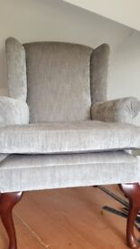 wing chair recovered and fresh padding