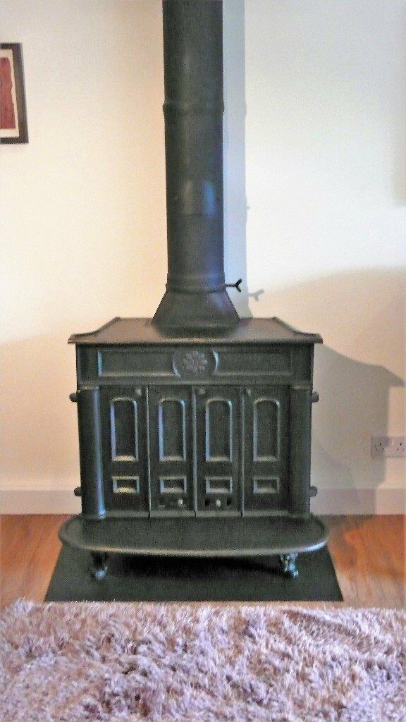 Gazco Regency Stove in back cast iron finish. Gas fired with lovely coal effect without the mess!