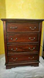 4 Chest Drawer NEW solid Wood - oak dark 100 pounds