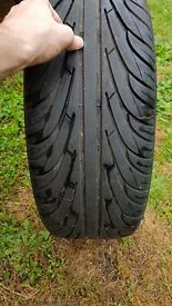4 stud alloy wheels, tyres near new condition.