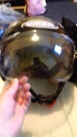 Viper Rs-16 Open Face Scooter Helmet Motorbike Motorcycle Helmet Matt Black L