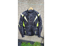 Motorcycle Jacke RST Pro Series green Textile Waterproof Motorcycle Jacket
