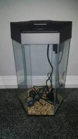 Hexagon fish tank hardly used reduced!