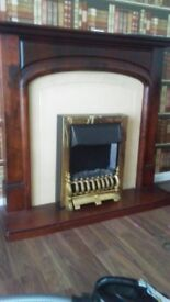 Fireplace surround and fire