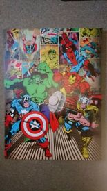 Boys super hero canvas