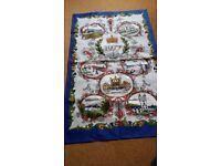 The Queens Silver Jubilee Tea Towel