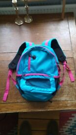 Beautiful Blue with reddish close to pink highlighting, the rucksack