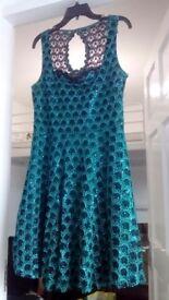 "Voodoo Vixen ""Carissa Green Lace"" sequin dress BNWT Size XL"