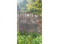 Heavy duty wrought iron gate - needing updating