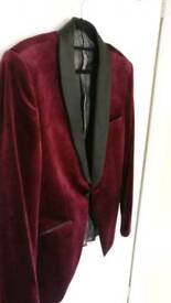 VELVET BLAZER JACKET GOOD AS NEW BURTON