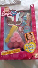 Barbie and Me Sweet stylin roller set & Designer hairbands