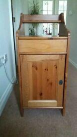 Solid dark pine bedside cabinetts