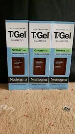 3 x 125ml Neutrogena T/Gel dandruff shampoo