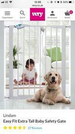 Lindam extra high baby expandable baby gate