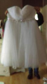 1950's tea style wedding dress