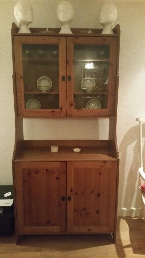 Ikea Leksvik Pine Kitchen Dresser Cabinet