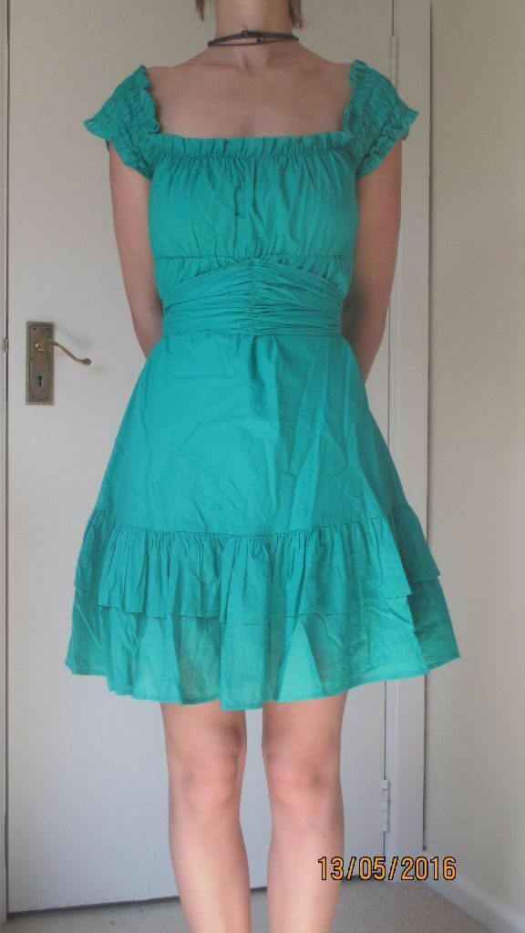 Green Country Barn Dance Style Dress