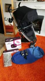 CAN POST Quinny Zapp Xtra2 - footmuff/cosy toes, bumper bar, adapters, cup holder, rain cover