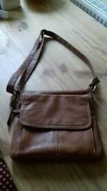 Clarks tan leather bag