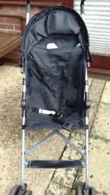 Black stroller suitable from 6 months to 36 months
