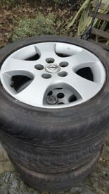 Nissan Alloy Wheels and tyres - 205/55/R16