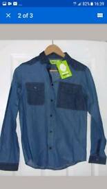 Boys denim shirt brand new with tags age 12-13