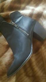 Size 6 leather boots by office