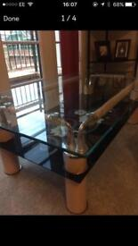 CHEAP beautiful glass living room table