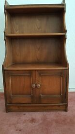 Ercol Golden Dawn Elm Base Unit Cupboard with Open Top Shelving